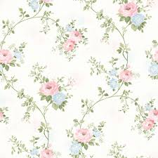 Flower Wall Paper 56 4 Sq Ft Mimosa Pastel Trail Wallpaper