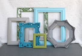 paint old frames diffe colors with leftover paint