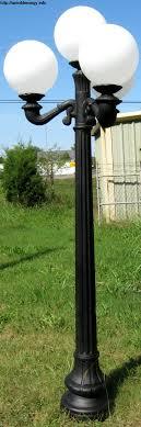 gallery for hampton bay 3 head black outdoor post light hb7017p 05 the home depot 3 light lamp post