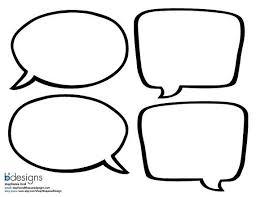 Word Bubble Templates Instant Download Blank Superhero Speech Bubble By