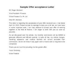 Acceptance Letter For Offer Job Offer Acceptance Letter Reply To Via Email Format