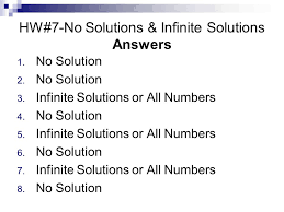 hw 7 no solutions infinite solutions answers