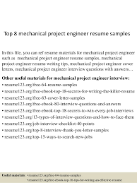 top  mechanical project engineer resume samplestop  mechanical project engineer resume samples in this file  you can ref resume materials