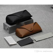 2019 whole black sun glasses case retro brown leather sunglasses box fashion eye glasses pouch without cleaning cloth china from