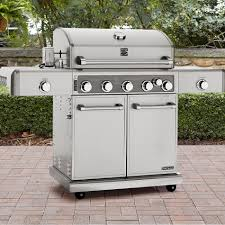 Interesting Kitchenaid 5 Burner Gas Grill Kenmore Elite Stainless And Inspiration