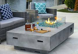 coffee table fire pit rectangle coffee table fire pit