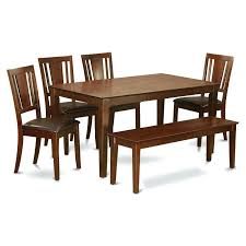 east west furniture dining set east west furniture 6 piece rectangular dining table set with faux