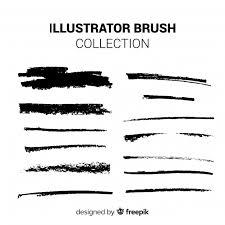 イラストレーターのブラシコレクション ベクター画像 無料ダウンロード