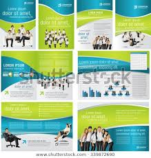 Template For Advertising Blue Green Template Advertising Brochure Business Stock Vector