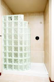 glass block shower kit