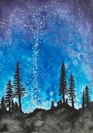 Twilight Starlight Night Painting by Wesley Hicks