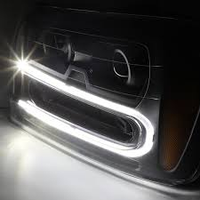Xenon + 02-09 Chevy Trailblazer LED U-Running Projector Headlight ...
