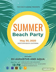 Sample Of Flyer Free Beach Party Flyer Sample Word Psd Apple Pages