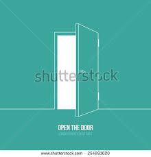vector ilration of open door symbol of freedom hope success new way