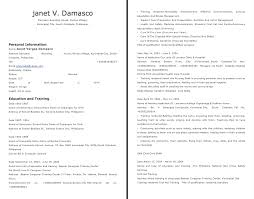 domestic helper resume sample
