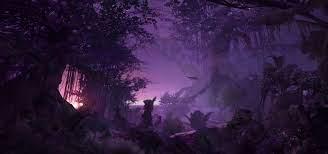 Forest at night wallpaper, digital art ...