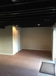 Black Ceilings finishing a royersford basement with black ceiling spray paint 2573 by xevi.us