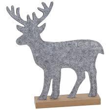 Filzdeko Hirsch Auf Holzsockel Weihnachtsdeko Winterdeko Filz Figur 1 Stk 32 Cm Matches21