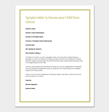 Sample Letter For Absence From School Apology Letter For Being Absent In School Sample Format