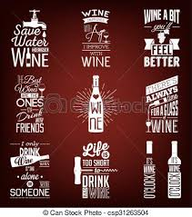 Wine Quotes Fascinating Set Of Vintage Wine Typographic Quotes