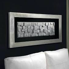rectangle wall art rectangle silver leafed blocked framed box wall art large wall wall art framed