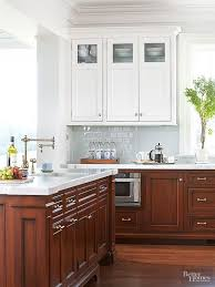 Brilliant Painting Cherry Kitchen Cabinets White Cabinet Wood Choices And Decorating