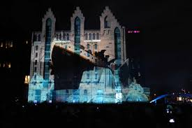 catch the intel d ultrabook  projection mapping tour in germany