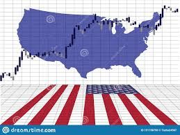 The American Stock Market Is Rising Stock Vector