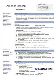 accoutant resumes accountant resume examples 2018 resume 2018