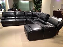 nice black leather reclining sectional sofa with nice black leather reclining sectional sofa black leather