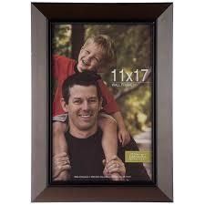 dark brown wood wall frame 11 x 17