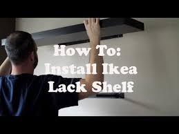 install an ikea lack shelf you