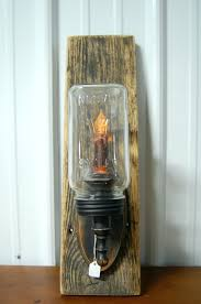 primitive old mason jar candle sconce on barn wood rustic wooden candle holders uk wood candle holder projects diy rustic wooden candle holder
