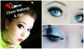 dance cheer makeup tutorial for recitals peions glitter makeup for cheer dance
