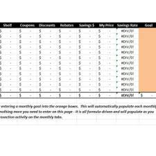 Savings Template 40 Savings Goal Trackers Savings Spreadsheets Template
