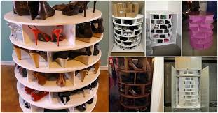 lazy susan shoe rack adorable how to build your own lazy susan for shoes diy