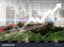 Stock Financial Index Successful Investment On Stock Photo