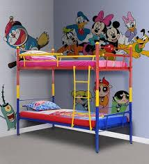 kids bunk bed. Barcelona Kids Bunk Bed In Multicolour By FurnitureKraft