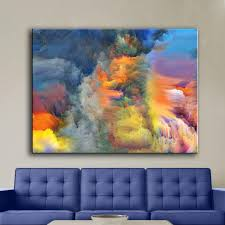 Large Living Room Paintings Online Get Cheap Smoke Oil Painting Aliexpresscom Alibaba Group