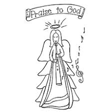 Small Picture Top 10 Free Printable Cheerful Angel Coloring Pages Online