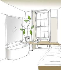 bathroom interior design sketches. Emily Bizley Interior Design Bathroom Sketch Sketches