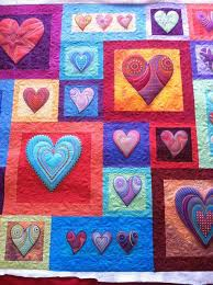 106 best Quilts - Hearts images on Pinterest   Blankets, My heart ... & Love this quilt! I do an 'all over' pattern just about like this Adamdwight.com