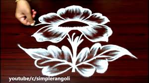 latest flower rangoli designs with 5x3 dots simple muggulu designs with dots easy kolam designs