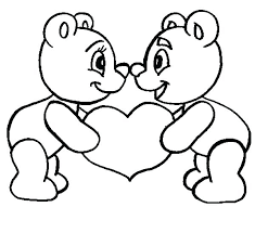 I Love You Teddy Bear Coloring Pages