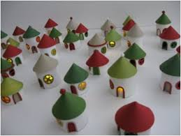 Toilet Paper Roll Crafts For Kids  Toilet Roll Christmas Garland Toilet Paper Roll Crafts For Christmas