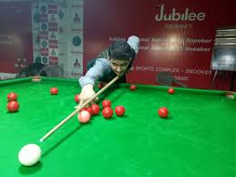 sheikh mudassir earned the credit of making first century of jubilee insurance 10th national junior u 21 snooker championship 2018