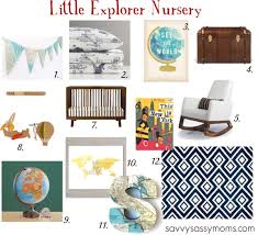 little explorer boy nursery decor