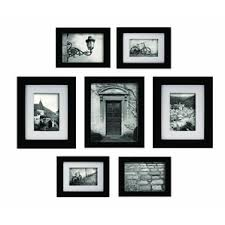 Morell Blackstone 7 Piece Gallery Snapshot Picture Frame Set. Black Walnut