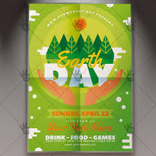 Earth Day Spring Flyer Psd Template
