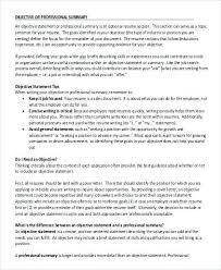 Objective Summary For Resume Resume Objective Summary 84